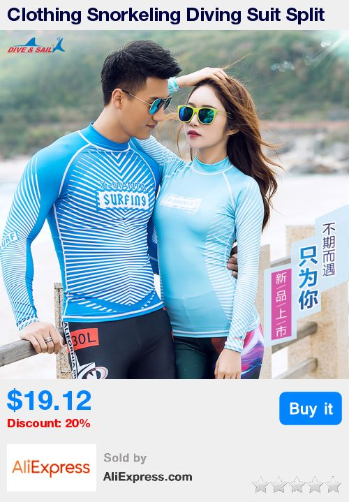 Clothing Snorkeling Diving Suit Split Jellyfish Clothes Dry Female Swimsuit Couple Long Sleeved Surf Wear Sunscreen Wholesale * Pub Date: 01:20 Oct 23 2017