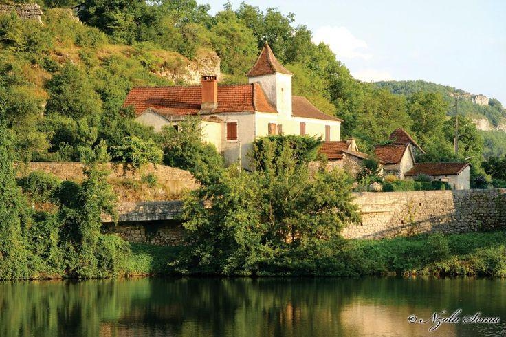 En las orillas del rio Lot (Cajarc, Francia)