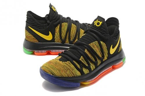 the best attitude 3c927 e8975 Spring Summer 2018 Cheapest Nike Zoom KD 10 X EP PBJ Multi Color Black  Rainbow