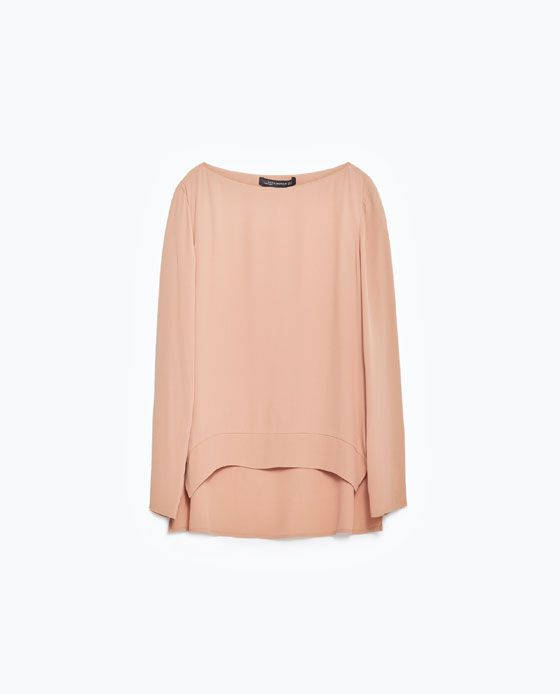 Image 8 of BOAT NECK BLOUSE from Zara
