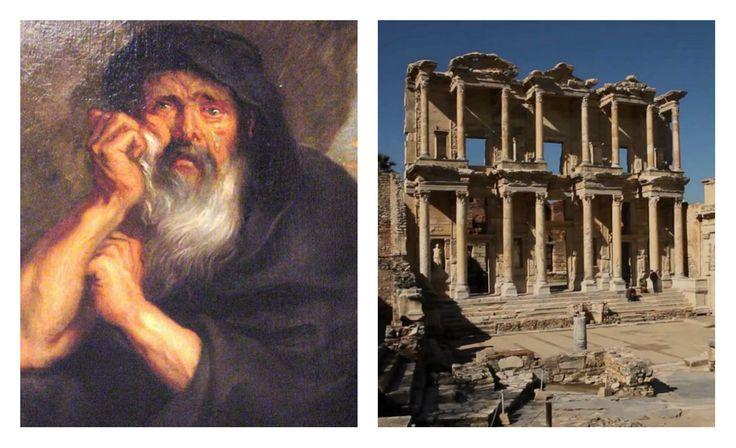 Heráclito conocido como el Oscuro de Éfeso; era de esta ciudad de Jonia. Su pensamiento argumentaba que el universo no se centraba en lo divino o religioso, sino que el hombre por sí mismo podría explicar todo lo que acontecía a su alrededor. Sus bases eran: el cambio como principio de la realidad, el fuego, el logos y el conocimiento.