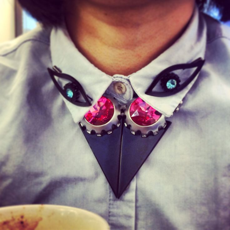 Street style : Talented #designer Sihan rocking part if her own collection @Lion Studio Jewellery Looks amazing!