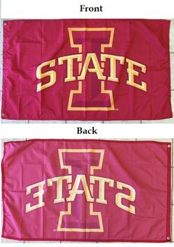 Official I State Logo Iowa State Wall Flag, Red/Gold 3'x5'
