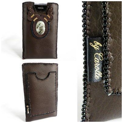 phone case with soutache http://blog.manufaktura-charlie.pl/