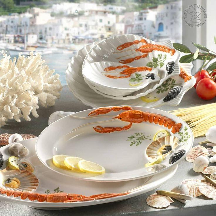 _ L O B S T E R _  #MADEINITALY #ceramics #Tableware #tabletop #seapottery #lobster #italydesign #italianstyle #keramik #homedecor #ceramica #ceramichenovebassano #centerpiece #mediterranean #handcrafted #handpainted #giftideas #seafood #seafoodrestaurant #photooftheday #tablesetting #shell #garncarstwo #ceramicart #ceramika #keramikka