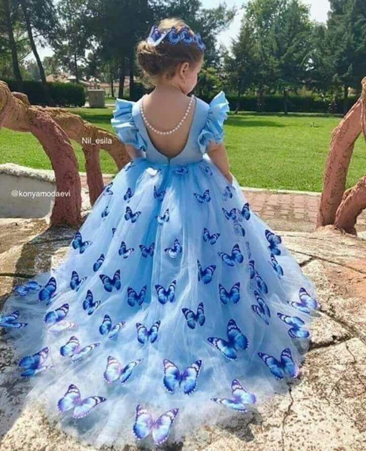 d653505635aa7 Blue Butterfly Beauty | My Fair Lady | Baby girl dresses, Butterfly ...