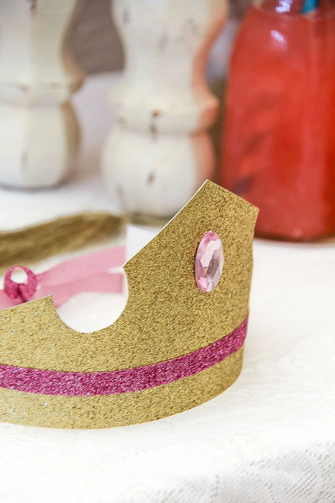 How to make a princess crown with little girls including a free printable template and instructions.