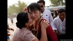 Burmese pro-democracy leader Aung San Suu Kyi's party won a landslide victory in by-elections. The National League for Democracy (NLD) won at least 40 of the 45 seats that were being contested.