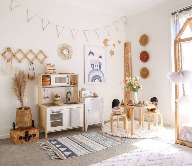 This Kids Bedroom Idea Is Such A Cute Design Absolutely Loving The Decor And How The Statement Bed Frame A Kid Room Decor Playroom Decor Kids Room Inspiration