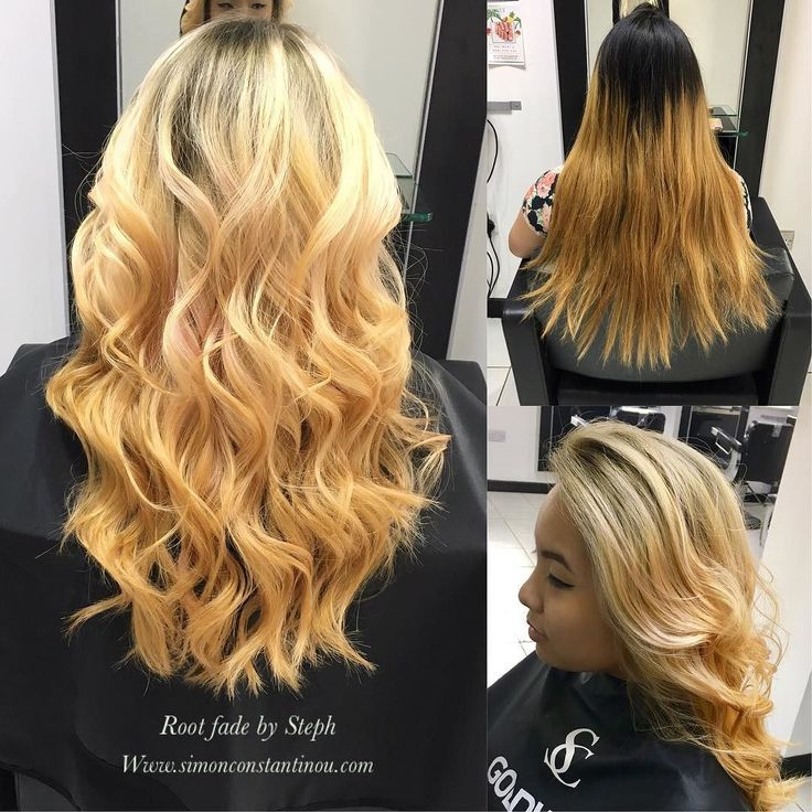 Gorgeous soft peachy root fade by Steph finished with beautiful waves.This client wanted to go lighter but had a lot of colour build up so Steph used @olaplex to keep the hairs condition whilst lifting the hairwe think this is a great result.#simonconstantinou #olaplex #behindthechair #modernsalon #ghd #iamgoldwell #colorcorrection #goldwell #goldwelluk #rootfade  If you would like to book in with Steph or one of our talented colourists call02920461191 O.Constantinous & Sons. 99 Crwys Rd…