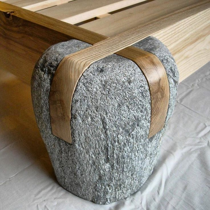 This is amazing wood and stone coffee table - rustic and yet contemporary