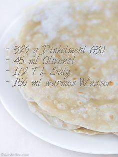 Tortillas selber machen? Nichts einfacher als das: Tortillas aus Dinkelmehl!