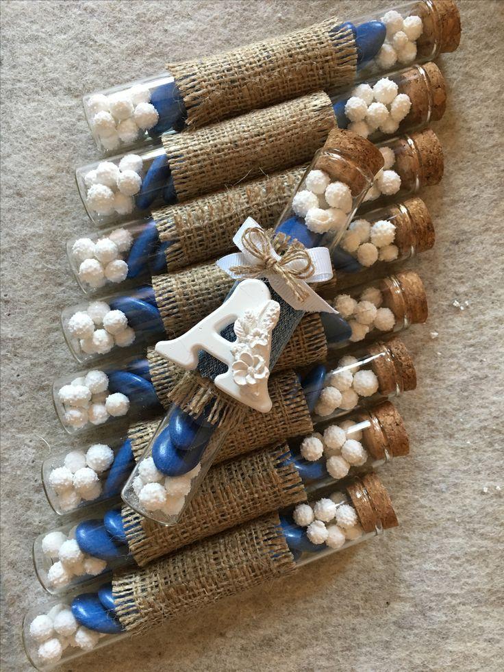 fialette bomboniera blu juta con gessetto profumato - handmade il filo dei sogni
