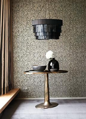 Adding this wallpaper to a hallway will make such inpact-  Quartz Wallpapers -  Zoffany