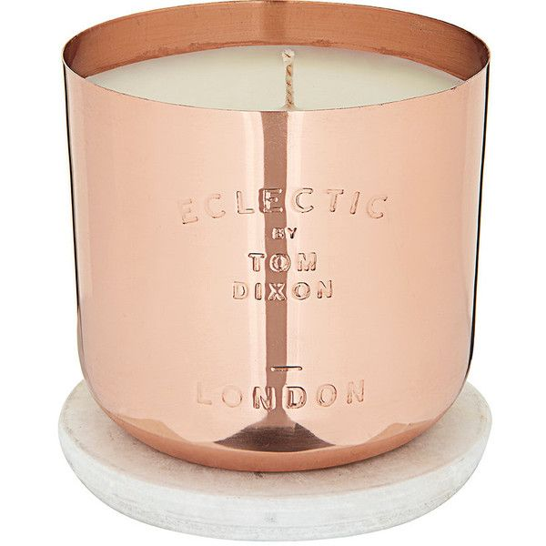 Tom Dixon Eclectic London Medium Candle ($80) ❤ liked on Polyvore featuring home, home decor, candles & candleholders, no color, white candles, white home decor, tom dixon, tom dixon candles and handmade home decor
