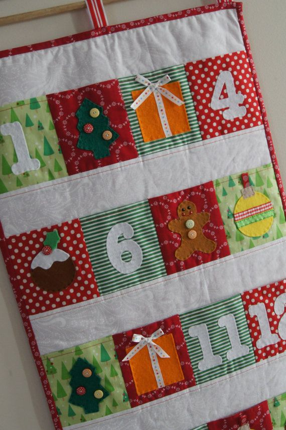 Christmas Advent Calender PDF Pattern. $10.00, via Etsy.
