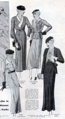 Pictorial Review Fashion Book, Spring 1933 featuring 6361, 6351, 6309 and 6355