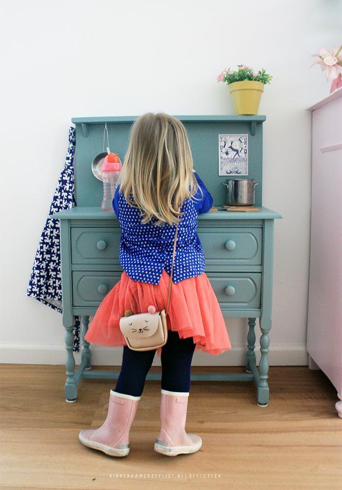 Houten #kinderkeukentje DIY   Stylestek via Kinderkamerstylist.nl