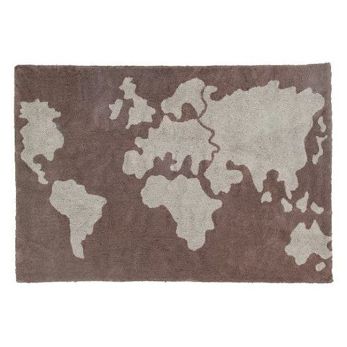 Lorena Canals World Map Washable Children's Rug - Machine Washable, Perfect for the Nursery - Handmade from 100% Natural