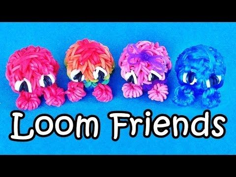 "Rainbow Loom Charms: 3D Fuzzies / ""Loom Friends"" – How to Make on Fun or Crazy Loom / Bands - Rainbow Loom Fans"