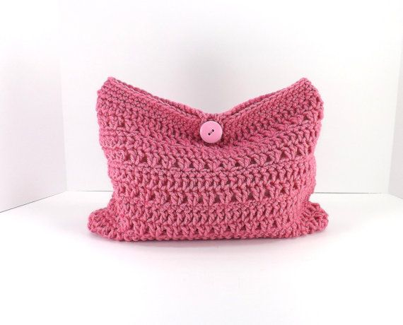 Crochet Cosmetic Bag : Crochet make up bag, crochet cosmetic bag, crochet mini bag, fashion ...