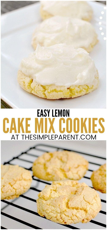 Lemon Cake Mix Cookies Recipe Baking Cake Mix