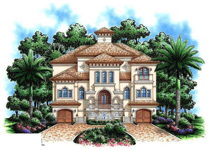 House Plan Chp 46832 At Mediterranean