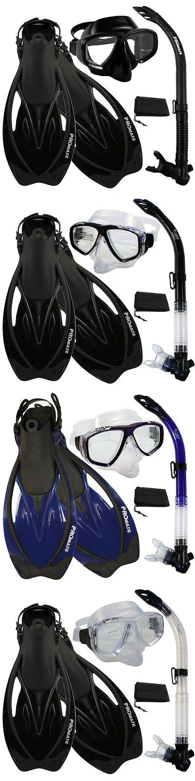 Snorkels and Sets 71162: Snorkeling Purge Mask Snorkel Fins Scuba Dive Gear Set -> BUY IT NOW ONLY: $47.5 on eBay!