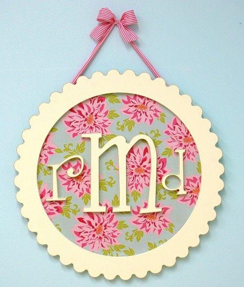 monogramIdeas, Little Girls, Monograms Wall, Kids Room, Girls Room, Baby Girls, Baby Room, Little Girl Rooms, Baby Gift