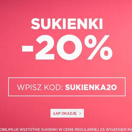 Kod rabatowy do JestesModna.pl - 20% na sukienki