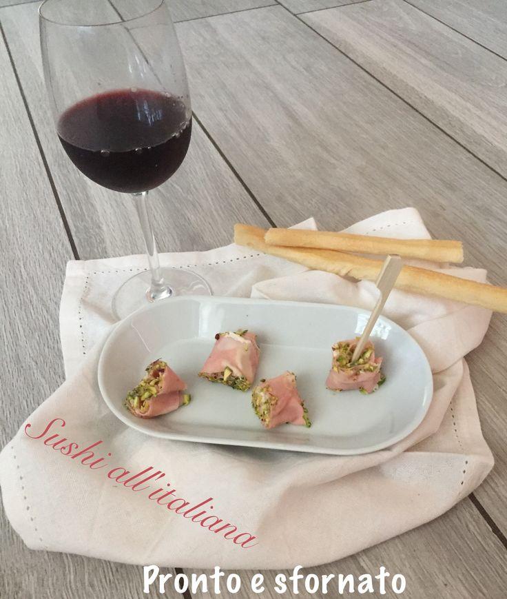 Il sushi all'italiana è un piatto perfetto per accompagnare un'aperitivo e richiama gli harumaki giapponesi ossia degli involtini di pesce