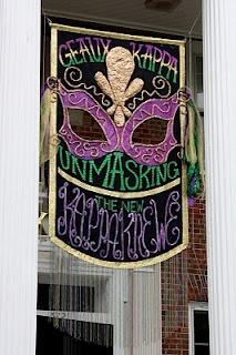 Banners | Kappa Kappa Gamma | Mardi Gras theme #bidday #recruitment #rush