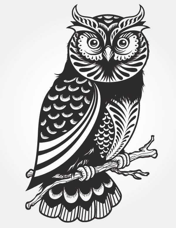 Free Paper Cutting Patterns   Free Vector VIP > Pattern vector > Vector Case > Owl paper-cut vector