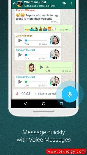 تحميل تطبيق WhatsApp Messenger وحفظ الرسائل المفضلة اندرويد