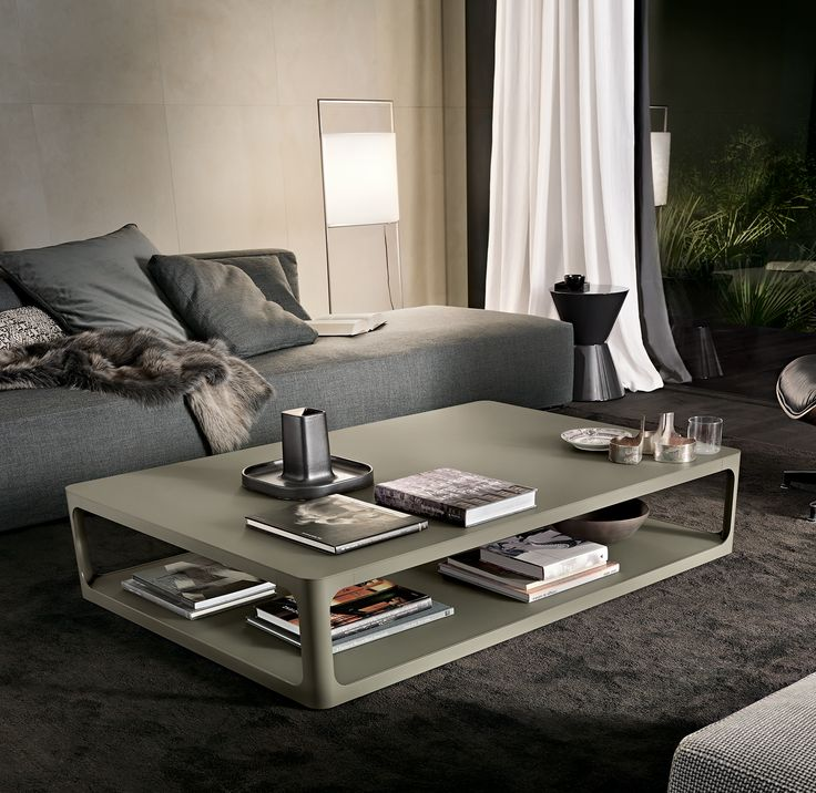 #Rimadesio Sixty coffee table verde oliva mat lacquered aluminium structure and verde oliva mat lacquered glass top.