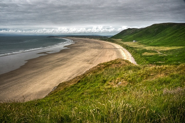 Rhossili beach on the Gower Peninsular - one of my favourite places in Wales.