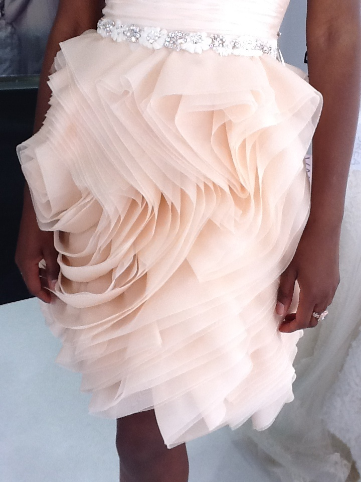 Apricot organza ruffles {love the texture}