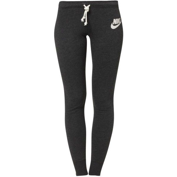 Nike Sportswear RALLY Tracksuit bottoms/htr ($44) ❤ liked on Polyvore featuring activewear, activewear pants, pants, bottoms, sports, nike, sweatpants, cotton sweatpants, nike sportswear and sports sweatpants