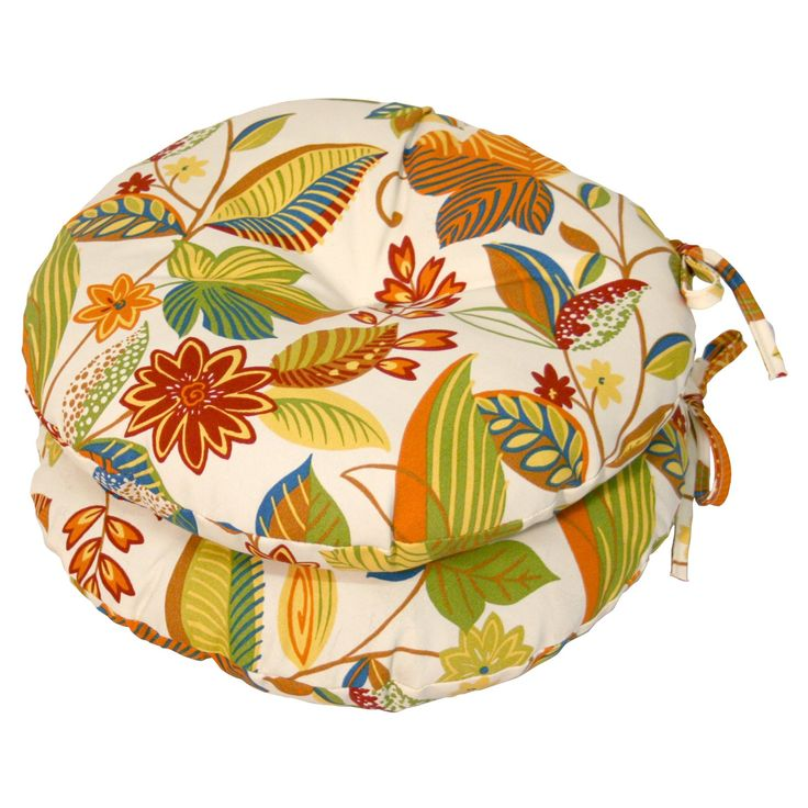 Beautiful Greendale Home Fashions 15 In. Round Outdoor Bistro Chair Cushion   Set Of  2