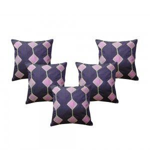 Pink Zig-Zag Purple Cushion Cover (Set of 5 Pcs)