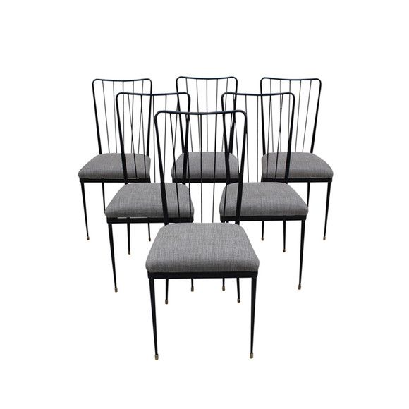 Lucca antiques seating set of 6 mid century italian dining chairs nyc apartment pinterest lucca dining chairs and mid century