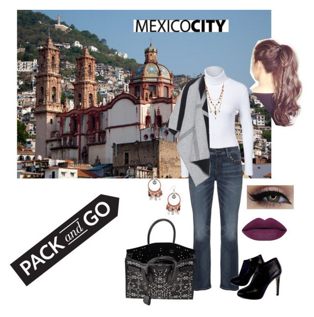 """""""Pack and go Mexico City"""" by rnr210209 on Polyvore featuring NLY Trend, Silver Jeans Co., Burberry, Giuseppe Zanotti, Betsey Johnson, Yves Saint Laurent, Dorothy Perkins, Boots, mexico and poncho"""