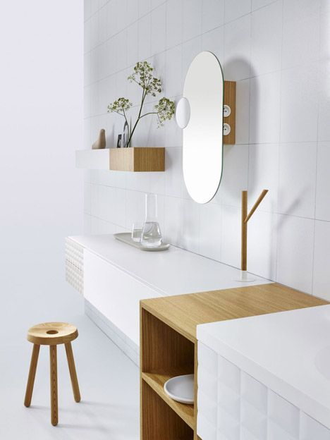 "This modular range was designed to let users create ""a bathroom that does not look like a bathroom""."