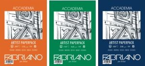 Italian Fabriano drawing paper in 3 weights and A4 and A3 sizes.