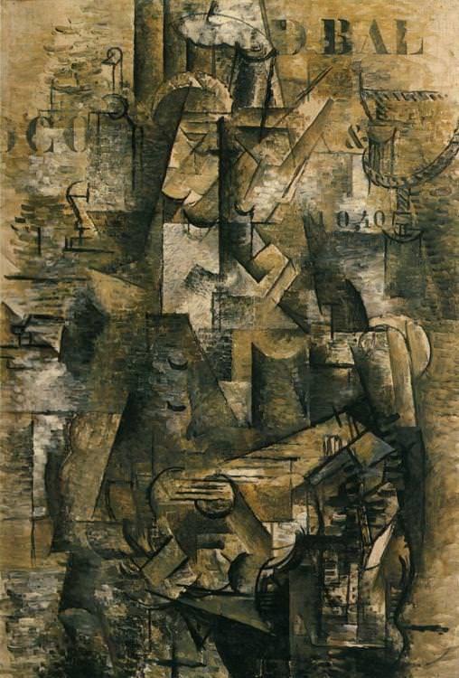 BRAQUE. El Portugués, 1911. Cubismo analítico.