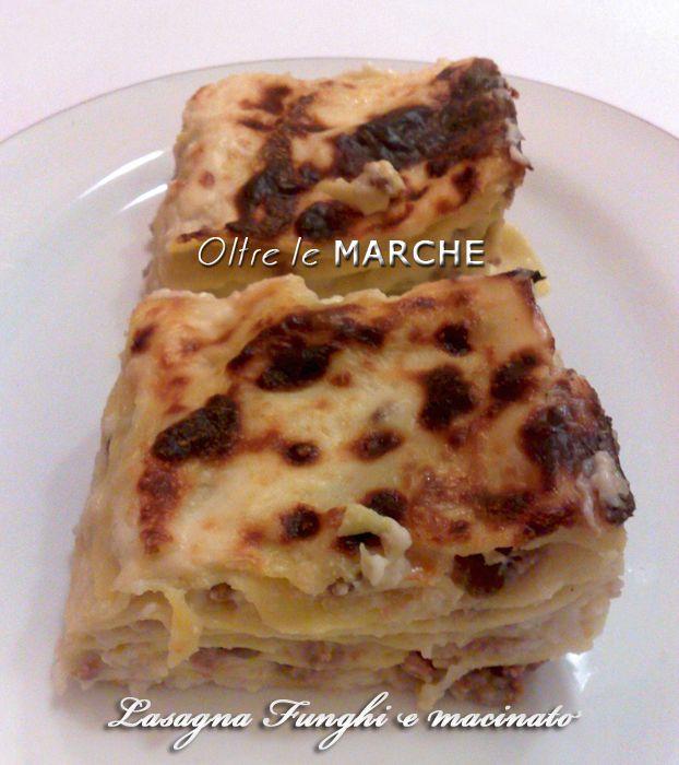 Lasagna ai funghi e macinato, cucina italiana