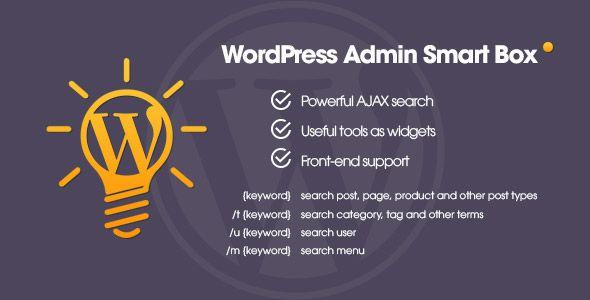 WP Admin Smart Box v1.1 - Powerful AJAX search / tools for WordPress - https://codeholder.net/item/wordpress/wp-admin-smart-box-wordpress