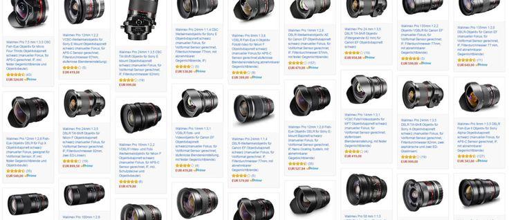 Bis zu 150 Euro Amazon-Aktionsgutschein auf Walimex-Objektive | nachbelichtet - fotografie, video, audio, recording