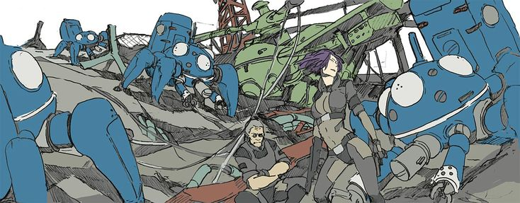 scribble: Ghost in the shell SAC by *hira-geco on deviantART