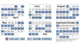 Cubs 2012 season schedule!